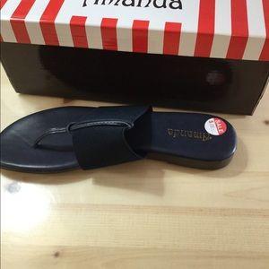 Brand new! Amanda sandals in navy blue